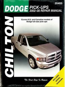what is the best auto repair manual 2002 dodge grand caravan navigation system 2002 2008 dodge pick up truck chilton repair manual