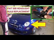 fiat 500 headlight bulb replacement left and right