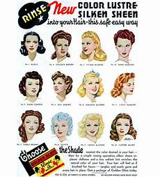 50s hairstyle names new color lustre silken sheen the new rinse that helps