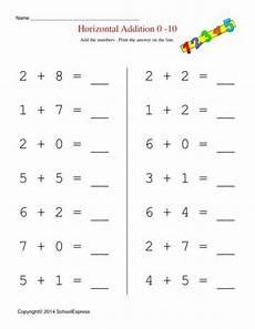 horizontal addition worksheets for grade 1 math worksheets free addition worksheets story problems