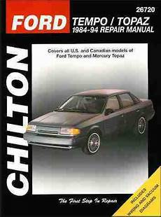 old car owners manuals 1984 mercury topaz user handbook sell ford tempo and mercury topaz repair shop service manual 1991 1992 1993 1994 motorcycle in