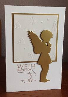 weihnachtskarten mit engel stanze alexandra renke