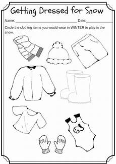 winter worksheets for kindergarten 19961 winter weather wear preschool worksheet what would you wear on a cold day weather activities