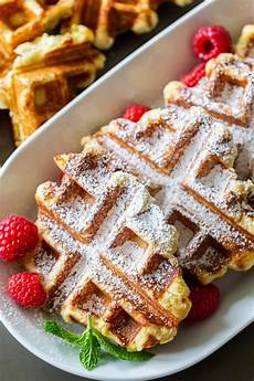 the easiest liege belgian waffles video momsdish