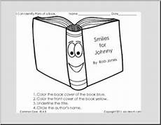 label the parts of a book reading exles kindergarten worksheets abcteach
