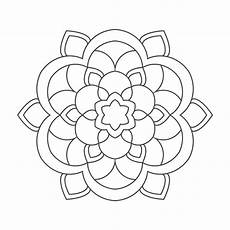 Mandala Malvorlagen Senioren Einfache Mandalas F 252 R Senioren