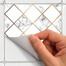stickers effet carreaux de ciment 24 stickers carreaux de ciment effet marbre losanges dor 233 s