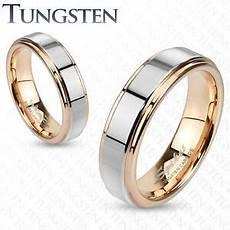 mens womens tungsten rose gold silver band ring wedding