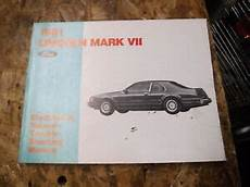 vehicle repair manual 1991 lincoln continental mark vii on board diagnostic system 1991 lincoln mark vii electrical vacuum troubleshooting manual service wiring ebay