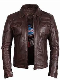 veste style motard homme 84241 veste classique style motard pour homme en cuir v 233 ritable marron veste de moto en cuir 224 moteur