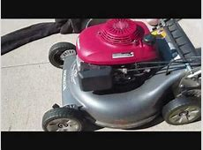 Changing Oil in Honda Lawn Mower   YouTube