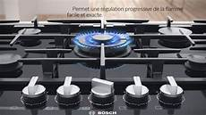 table gaz flameselect bosch s 233 lectionnez l intensit 233 de