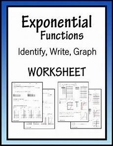 writing exponential functions worksheet exponential functions algebra worksheet identify write and graph algebra exponential