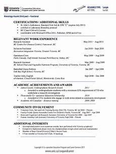 exle resume cv