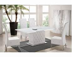 table salle a manger blanche table basse verre blanc