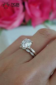 sale 2 carat art deco solitaire wedding man made diamond simulants engagement ring