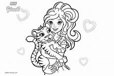 lego friends coloring pages pets tiger free printable