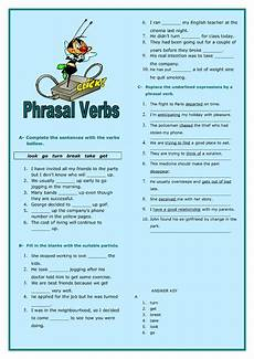 phrasal verbs intermediate worksheet