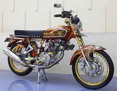 Cb 100 Modif Simple by Honda Cb100 73 Semarang Glamor Look Khas Cb Modify