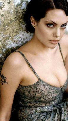 adorable hollywood actress angelina jolie tattoo with