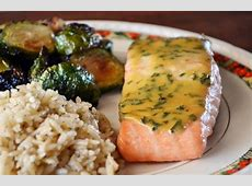 baked salmon with mustard dill sauce_image