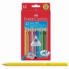 faber castell jumbo grip colour pencils pack 12 with