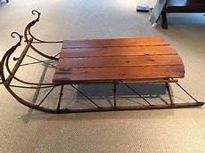 Antique Sleigh Coffee Table