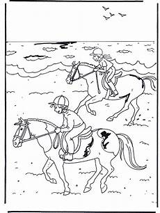 reiten 2 ausmalbilder pferde