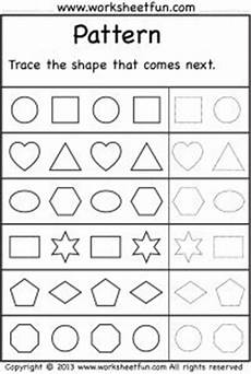 complete the pattern worksheet for grade 2 396 shapes preschool stuff on shape activities 3d shapes and printables