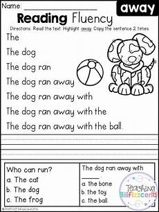 free reading fluency and comprehension 1 free kindergarten reading reading fluency
