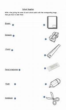 worksheets school supplies 18456 school supplies esl worksheet by gleiston