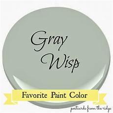 benjamin gray wisp favorite paint color favorite