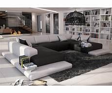 grosses wohnzimmer wohnlandschaft bethany 360x271 schwarz weiss otl wohnen