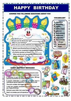 happy birthday worksheets esl 20219 happy birthday vocabulary esl worksheet by ironda