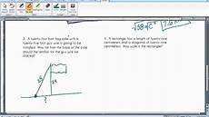 pythagorean theorem word problems youtube
