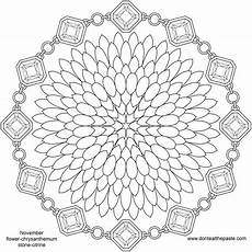 mandala coloring pages flowers 17908 november birthstone and flower mandala mandala coloring pages mandala coloring detailed