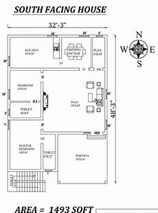 south facing house plans per vastu 32 x48 wonderful 2bhk south facing house plan as per
