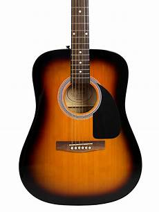 Fender Fa 100 Acoustic Guitar Sunburst W Gig Bag Ebay