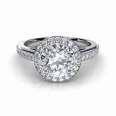 halo pave diamond engagement ring natalie diamonds