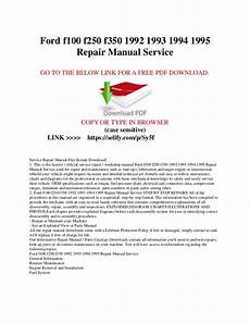 car repair manuals download 1994 ford f250 free book repair manuals ford f100 f150 f250 f350 1992 1993 1994 1995 repair manual service