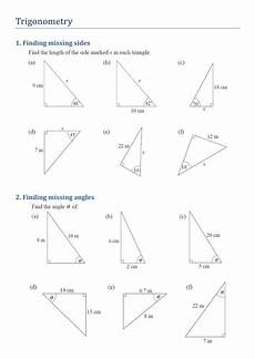trigonometry angles worksheet trigonometry finding missing sides and angles by kirbybill teaching resources tes
