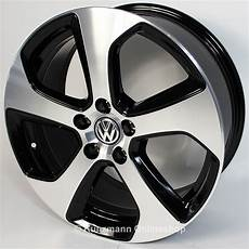 volkswagen gti rims 7 5x18 front polished golf 7 vii