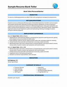 sle of bank teller resume with no experience http