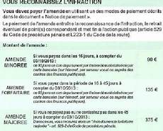 Pv L Amende Au Tarif Minor 233 D 233 Sormais Pendant 15 Jours