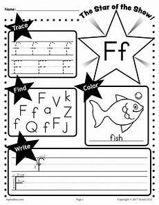 free letter f worksheet tracing coloring writing more