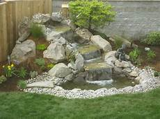 Small Waterfall Sloped Backyard Landscaping Ideas Garden