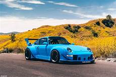 porsche 993 rwb riviera blue rwb porsche 993 turbo with forgestar m14 wheels