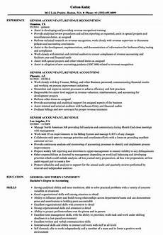 senior accountant revenue resume sles velvet