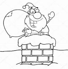 outlined santa claus in chimney stock photo 169 hittoon