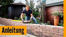 Gartenmauer Bauen Mit Mauersteinen Hornbach